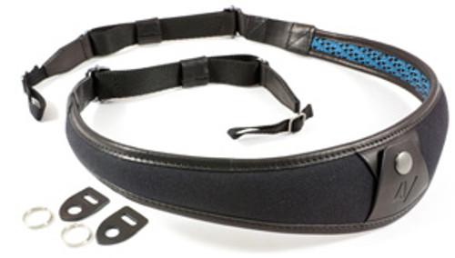 4V Design Large Neck Strap ALA - Univ. Fit Kit - Canvas, Tuscany Leather - black/black