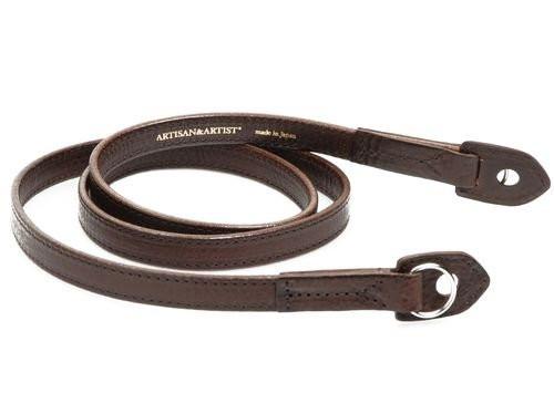 Artisan & Artist ACAM-280 Kobe Shaved-edge Leather Strap (Brown))