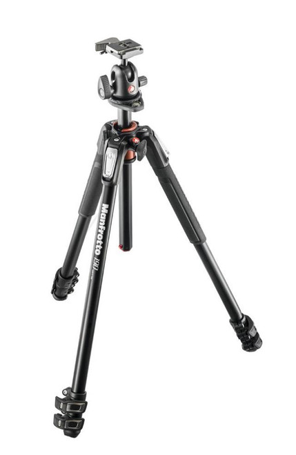 Manfrotto MK190XPRO3-BH3 Section Aluminum Tripod Column Q90 Ball Head with Quick Release (Black)