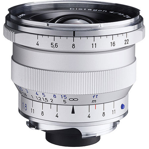 18Mm F/4 Distagon T* ZM Manual Focus Lens - Silver
