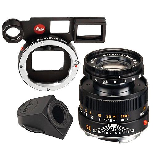 Leica Macro-Elmar-M 90mm f/4 Lens Set w/ Macro-Adapter & Angle Viewfinder