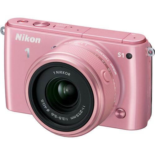 Nikon 1 S1 Mirrorless Camera W/11-27.5Mm Pink