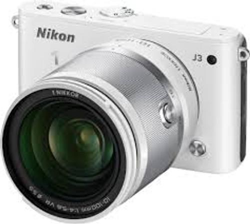 Nikon 1 J3 Mirrorless Camera W/ 10-100mm (White)