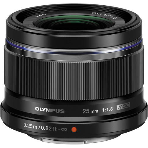 Olympus 25mm f/1.8 M.Zuiko Lens (Black)