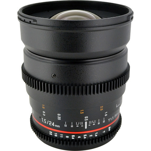 Rokinon 24Mm T1.5 Cine Lens For Canon EF-Mount
