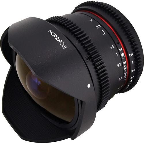 Rokinon 8Mm T/3.8 Fisheye Cine Lens For Sony E