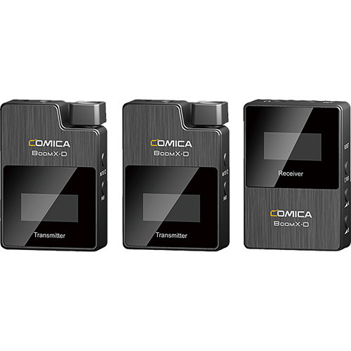 Comica Audio BoomX-D D2 Ultracompact 2-Person Digital Wireless Microphone System for Mirrorless/DSLR Cameras (2.4 GHz)