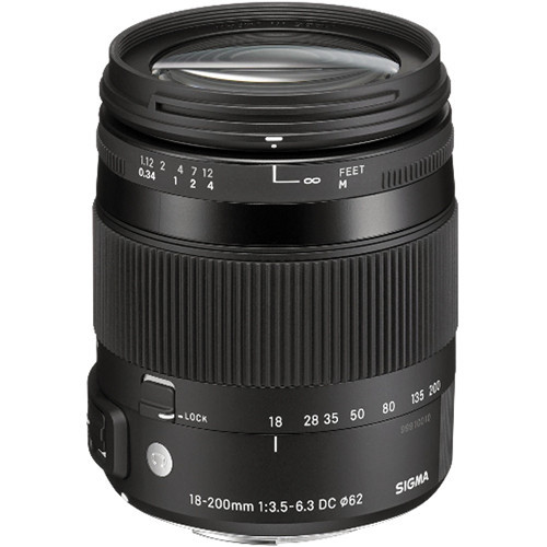 Sigma 18-200mm F/3.5-6.3 DC OS HSM Lens For Nikon
