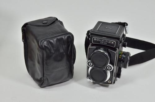 Pre-Owned - Rolleiflex w/ 80mm F/2.8 GX SER#2985925  Carl Zeiss Planar HFT Camera  W/ leather case
