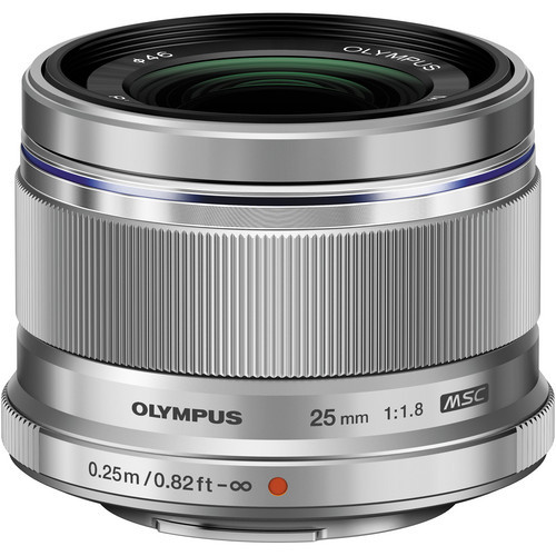 Olympus 25mm f/1.8 M.Zuiko Lens (Silver)