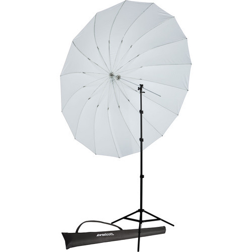 7'Parabolic Umbrella(Whi)W/ 8' Stand