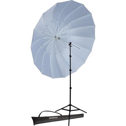 7' Parabolic Umbrella (Blk/Whi) W/ 8' Stand Kit