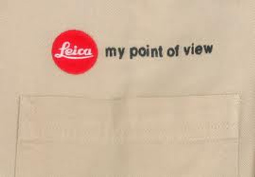 """Size L """"My Point Of View"""" Mens Button-Up White"""
