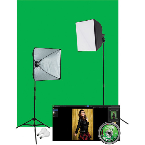Illusions uLite 2-Light Green Screen Photo Lighting Kit (120VAC)