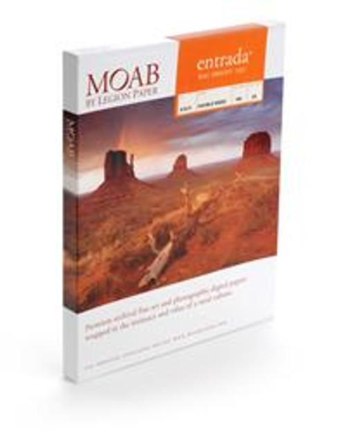 """Moab Entrada Rag Bright 190 (Matte, 2-sided, 190 gsm) Paper for Inkjet - 4x6"""" (A6) - 50 Sheets"""