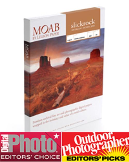 "Moab Slickrock 12mil Fine Art Inkjet Paper, 300gsm, 24""x50' Roll, Metallic Silver"