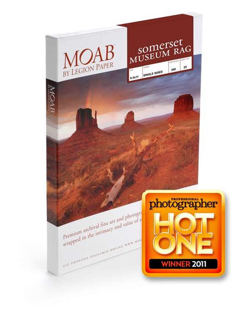 Moab 8.5X11'' Somerset Museum Rag Single Sided 25Sh
