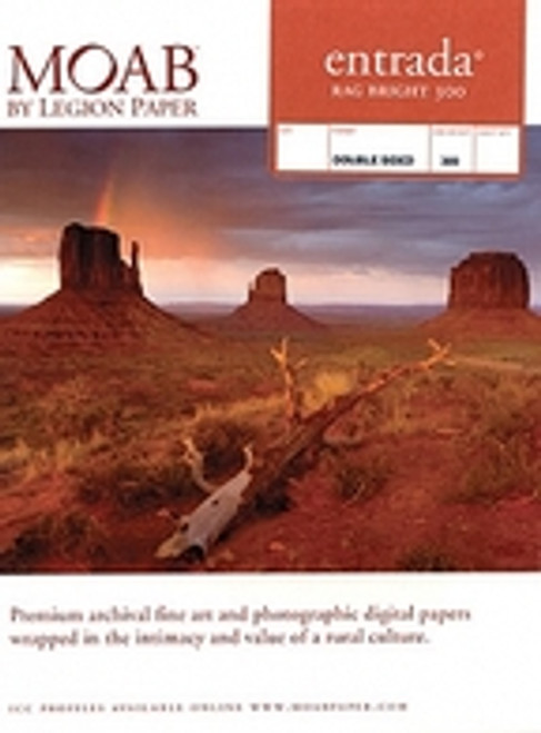 Moab Entrada Rag Bright 190- 8.5X11 25 Sheet