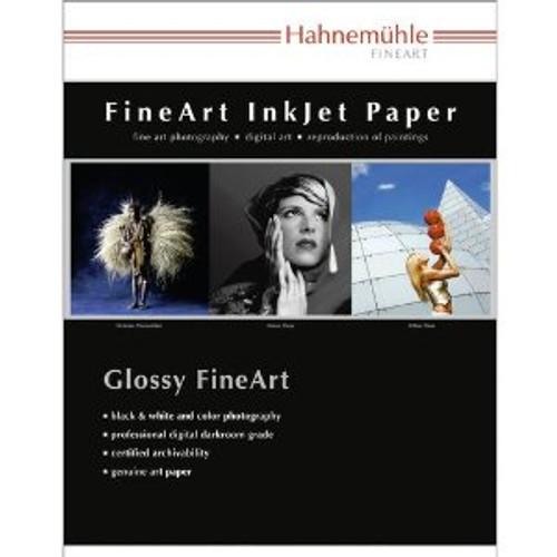 "Hahnemuhle Satin Photo Rag, 310 gsm, 100 % Rag, Fine Lustre Bright White Inkjet Paper, 11x17"", 25 Sheets"