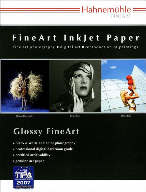 "Hahnemuhle Satin Photo Rag, 310 gsm, 100 % Rag, Fine Lustre Bright White Inkjet Paper, 17x22"", 25 Sheets"