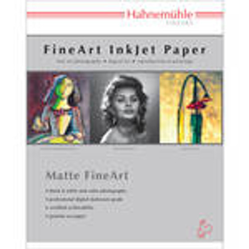 Hahnemuhle Matte German Etching, 81/2x11 100% TCF Pulp, Natural White Watercolor Inkjet Paper, 19.6 mil., 310 g/mA, 25 Sheets