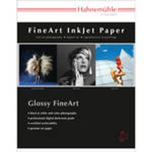 """Hahnemuhle Fine Art Baryta 325, Ultra Smooth High Gloss, Bright White Inkjet Paper, 325gsm, 8.5x11"""", 25 Sheets"""