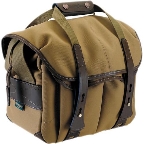 107 Camera Bag (Khaki With Chocolate Leather Trim)