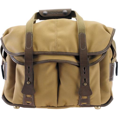 307 Camera Bag (Khaki With Chocolate Leather Trim)