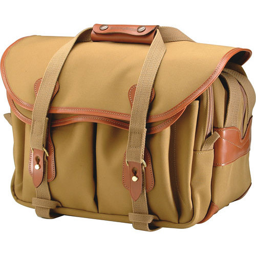 Billingham 335 Shoulder Bag (Khaki With Tan Leather Trim)
