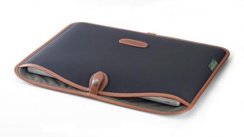 "Billingham Slip Case for 15"" Laptop (Black Canvas & Leather Trim)"