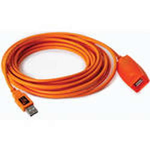 Tether Tools TetherPro 49' USB 2.0 Active Extension Cable, High-Visibility Orange 3X CU1917