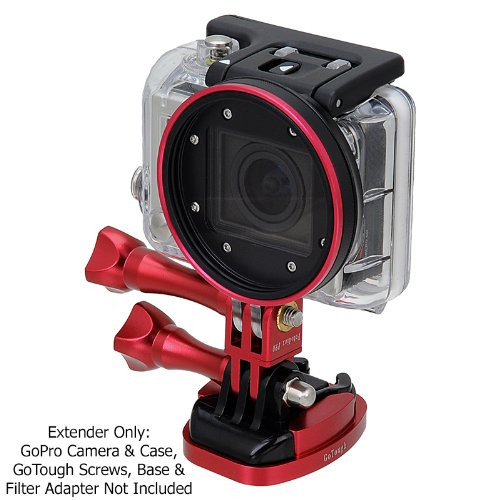 Fotodiox GoTough - Red 20mm Extender with Pivot Arm for GoPro