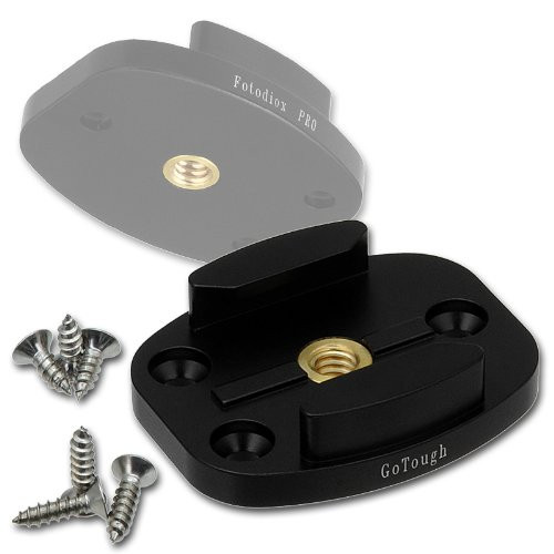 Fotodiox GoTough  - Black Quick Release Mount w/ Screw Holes for GoPro