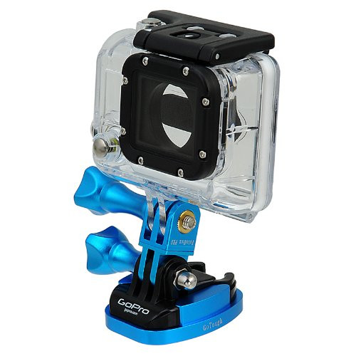 Fotodiox GoTough  - Blue Quick Release Mount w/ Screw Holes for GoPro