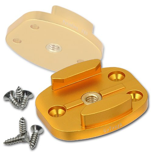 Fotodiox GoTough  - Gold Quick Release Mount w/ Screw Holes for GoPro
