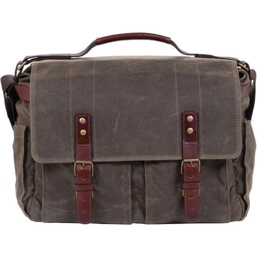 ONA Astoria Camera Messenger Bag-Olive/Dark Tan