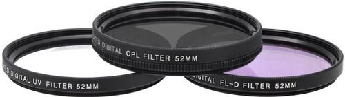 Xit XT52FLK 52 3-Piece Camera Lens Filter Sets