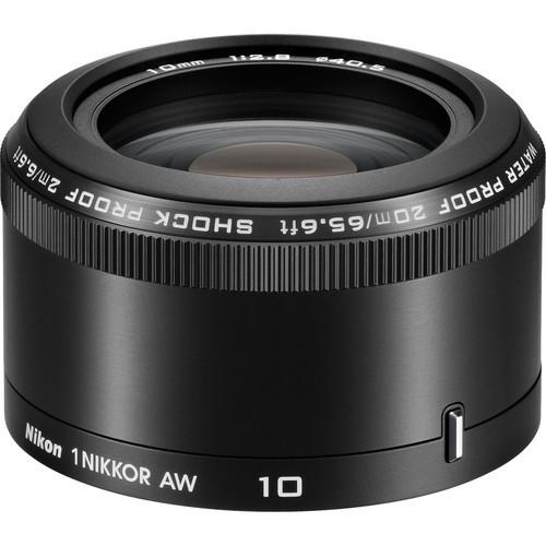 Nikon 1 10mm f/2.8 AW Nikkor Lens (Black) open box
