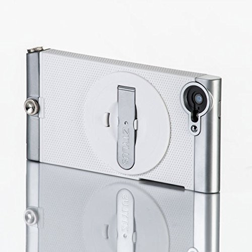 ZTYLUS SMARTPHONE CASE FOR APPLE IPHONE 5/5S (WHITE EDITION) WITH KICKSTAND COMPATIBLE WITH RV-2 4-IN-1 REVOLVER LENS ATTACHMENT