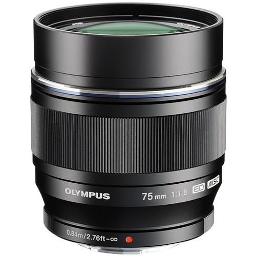 Olympus 75mm f/1.8 M.Zuiko Digital ED Lens (Black)
