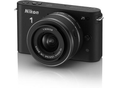 Pre-Owned - Nikon 1 J1 W/10-30mm & 30-110mm VR Zoom Lens (Black)