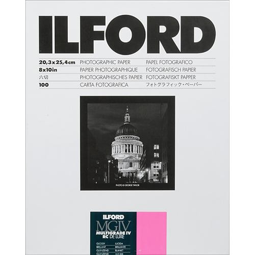 Ilford 8X10in Multigrade IV RC Deluxe (glossy) 100Sh