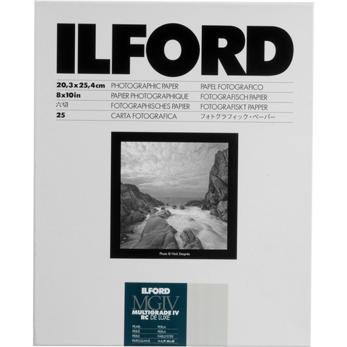 Ilford Multigrade IV RC Deluxe Resin Coated VC Paper, 8x10-Inches, 25-Pack (Pearl)