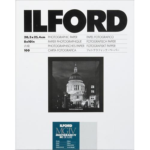Ilford 8X10in Multigrade IV RC Deluxe (pearl) 100Sh
