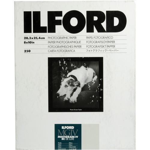 Ilford Multigrade IV RC Deluxe Pearl (8X10) 250 Sheets - Darkroom paper
