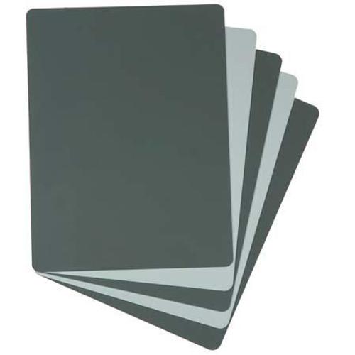 """Zebra 2 Sided Grey Card,18% Grey/White,7.9""""X5.9"""""""
