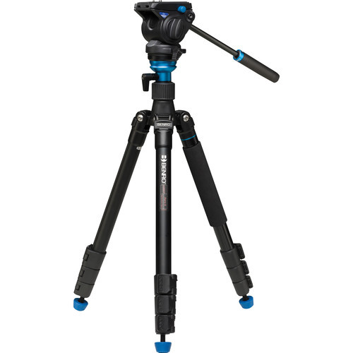 Benro Aero4 Travel Angel Video Tripod Kit - A2883F with Leveling Column and S4 Head (ACE47437)