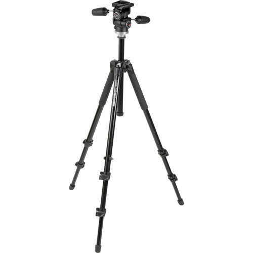 Manfrotto 294 Alum 3 Sec Tripod W/ 3-Way QR Head W/ BAG