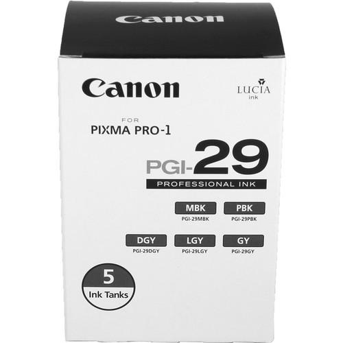 PGI-29 Five Color Pack For Pixma Pro-1