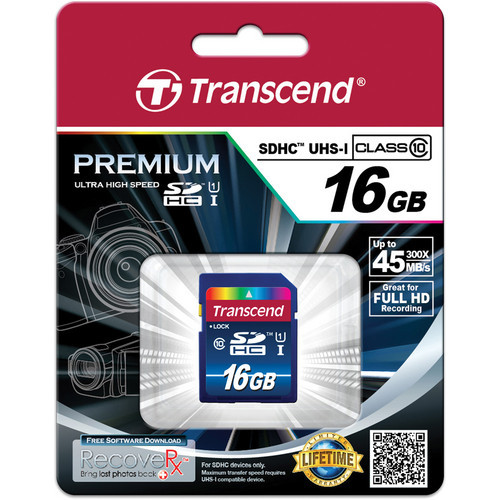 16GB SDHC Memory Card Premium Class 10 UHS-I 300x 45MB/s